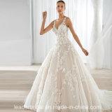 2017 vestiti nuziali Wedding CB064 dagli spaghetti a file del merletto dell'abito di sfera