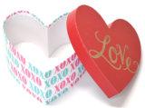 Multi-Diseña el rectángulo de regalo del papel de la dimensión de una variable del corazón para el chocolate