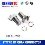 Montage sur CI 90 degré 28 mm connecteurs femelle de type F