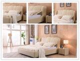 Король Размер Кожа Мягк Кровать мебели спальни Guangdong Foshan самомоднейший