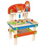 새로운 형식 아이와 아이들을%s 나무로 되는 작업대 장난감
