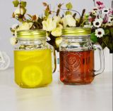 Frascos de vidro transparente de conservas de vidro Mason Jar, frascos de boca larga