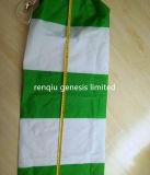 Vento-Aletta verde e bianca dell'Vento-Aletta del sacchetto meteorologico del vento del Giappone di concentrazione impermeabile di /High