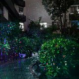 Luzes de Natal do laser, projetor impermeável vermelho e verde do projector da paisagem, luz da decoração da estrela para o uso interno e ao ar livre