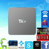 Google Smart TV в салоне Andorid 6.0 2g 16g Tx7 телевизор в салоне Quad Core Kodi 16.1 с двумя Bluetooth WiFi Multi Midea плеер