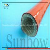 Koker Op hoge temperatuur van de Brand van de Glasvezel van het Silicone van de Roest van Sunbow de Rode Bestand