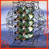 Porte-bouteille en vinyle en métal Porte-affiche à vin pour magasin