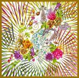 デジタルプリントカスタム方法絹のスカーフ(F13-0060)