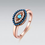 Серебряные украшения Multi-Color зла глаз кольцо