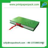 Твердая бумажная коробка подарка печатание при закрынная связь тесемки