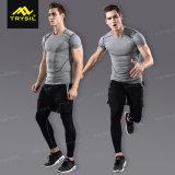 Gymnastique mâle Legging de chemise d'homme de survêtement d'hommes de vêtements de sport