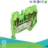 Разъем земли посадки блока Jut3-2.5/1-2PE проводки весны терминальный земной
