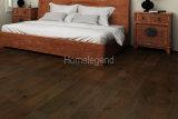 Revêtement de sol en bois reconstitué en chêne de couleur noire en chêne noir Plancher de bois naturel et chauffant