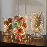 100 luzes do diodo emissor de luz, luz decorativa interna/ao ar livre das luzes de Natal da esfera, USB psto, luz branca morna - para a luz de Natal da árvore do Xmas do partido de jardim do pátio
