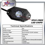 """卸し売り10-30V IP68は2 """" 9W白い紫系統の緑こはく色LEDの石ライトを防水する"""