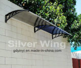 material usado pabellón del toldo de la puerta de los 80*100cm para la ventana del toldo de la venta (hoja del sólido de 2.7m m)