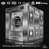 vollautomatische Waschmaschine-industrielle Unterlegscheibe-Zange der Wäscherei-100kg (Dampf)
