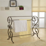 Black Metal Classic Standing Shelter Rack Holder Shelf pour la vie quotidienne
