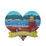 De Magneet van de Koelkast van de Herinnering van de Toerist van de Gift van de Hars van de Douane van het Landschap van Nice
