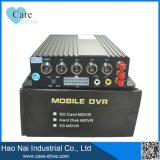 Gravador de vídeo de 4 canaletas, sistema móvel do monitor de DVR para a gerência da frota