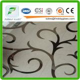 4-6mm bereiften,/Säure geätzte dekoratives/Kunst-Glas mit Cer u. ISO9001
