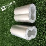 Funda de aluminio de la virola de la cuerda de alambre DIN3093