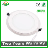 Round Top Quality aluminio + cristal 5W / 12W / 18W luz del panel LED