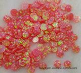 Roze Gecreërd Opaal voor het Plaatsen van Juwelen