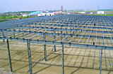 La estructura de acero/el edificio de la estructura de acero/vertió (los SS-03)