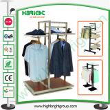 Подгонянный магазин одежды деревянный и стойка индикации металла