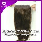 Stock Volumizer Quad de 8 pouces de la trame clip dans l'extension de cheveux/8 pouce de clip-in Human Hair Extensions avec plus de couleurs en stock