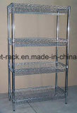Mobiliário de metal cromado ajustável Showroom Display Racks