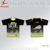 Healong Quilted Sublimation Any Logo T-shirt Homme personnalisé