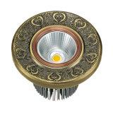 Latón de cobre amarillo forjado LED Downlight de la placa de cara