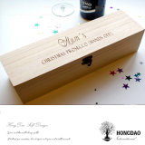 Het Natuurlijke Kleur Scharnierende Deksel van Hongdao met de Houten Doos van de Wijn van de Greep voor de Enige Wijn _E van de Fles