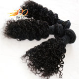 インドのバージンの毛のジェリーのカールのもつれは最上質を放す
