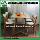 Mesa de jantar de carvalho com 4 cadeiras para móveis de casa (W-DF-0687)
