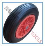 농업 손수레는 외바퀴 손수레 사용을%s PU 거품 바퀴를 선회한다