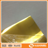 Gefilmtes goldenes Aluminiumspiegel-Blatt