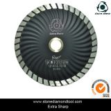 Diamond Turbo Cutting Small Saw Blade with Flange and Segments