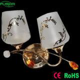 Dispositivo in lampada da parete di vetro con due lampade (9375/2W)