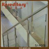 Pasamano de interior de la escalera del acero inoxidable del sistema de pasamano de la escalera del vidrio Tempered (SJ-S074)