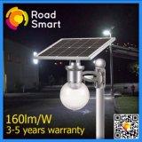 3 vatios LED Solar jardín lámpara de Wall Street con baterías LiFePO4