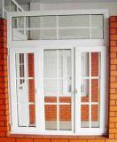 Kundenspezifisches Dreifach-Blatt Belüftung-Flügelfenster-Glasfenster mit Gitter-Entwurf (PCW-028)