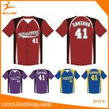 Il baseball caldo di stampa di sublimazione di vendita di Healong abbottona la camicia