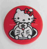Alta calidad Embroidery Tin Button Badge con Fabric (botón badge-60)