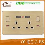 13 AMP Electric Us Prise murale USB avec interrupteur