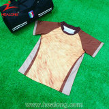 Healong Brown Streifen-volle Sublimation-RugbyJerseys