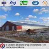 動物飼育のためのプレハブの軽い鉄骨構造の倉庫