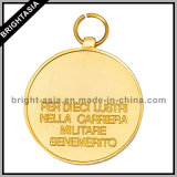 Gold su ordinazione Metal Sport Medal con Two Sides Logo (BYH-10840))